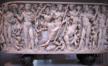 Marble sarcophagus with the Triumph of Dionysos and the Seasons, AD 260-250