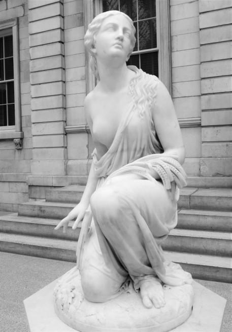 Ruth Gleaning, Randolph Rogers, 1855-6